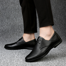 Natural Leather Men Shoes Comfort Lace-Up Casual Shoes Falts Comfort Lace Up Outdoor Walking Shoes Men Zapatos Hombre
