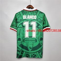 Retro Mexico 1998 Blanco Hernandez Classic Shirts Vintage Jerseys