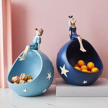 Kawaii Accessories Bubble Girl Ornaments Resin Creative Decoration Candy Storage Desktop Sundries Storage Nordic Birthday Gift
