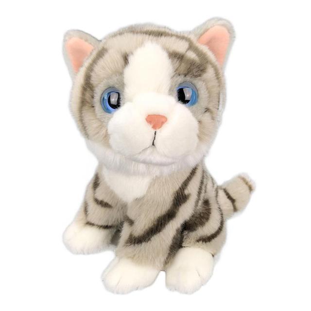 Kids Gift Cute Lifelike Cat Kitty Animal Soft Stuffed Plush Doll Sofa Table Decor Kid Toy Home Decoration lightweight Plush Toy