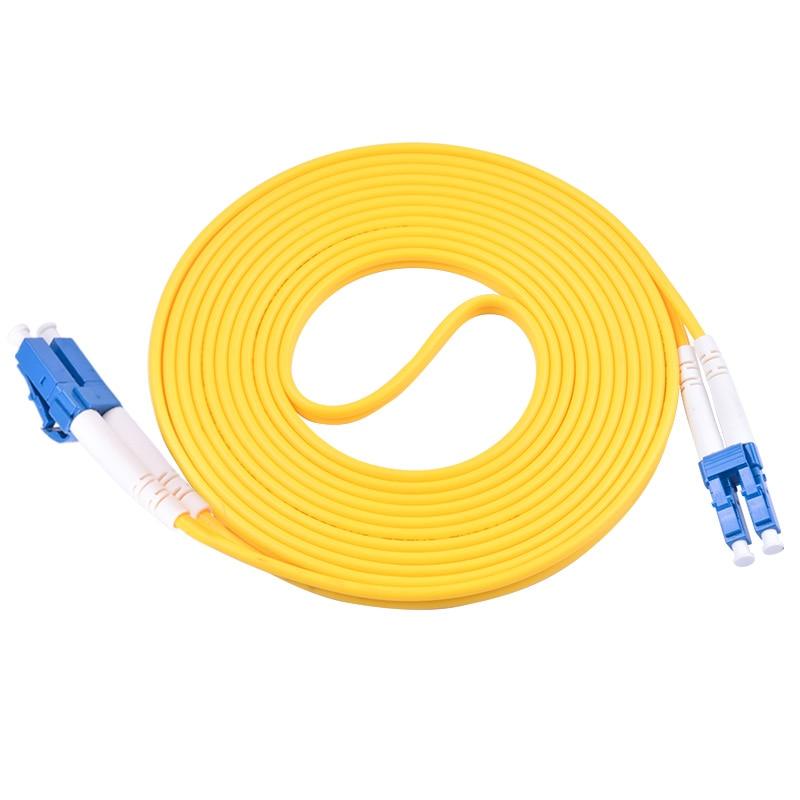 Cable de puente de fibra óptica simple de 20 unids/lote SC/APC-SC/UPC de modo único 3,0mm FTTH Cable de parche de fibra óptica 500M al aire libre LC UPC dúplex gota FTTH Cable LC monomodo dúplex G657A Cable de parche de fibra óptica FTTH Cable de fibra óptica