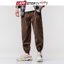 LAPPSTER hombres cintas Streetwear negro pantalones de carga 2020 Harem pantalones Mens Hip Hop joggers holgados Pantalones de ejercicio con bolsillos