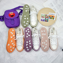 Canvas shoes female students Korean version of the wild white shoes female 2019 spring and summer explosions love tide shoes street beat white shoes female 2018 new spring wild korean students harajuku style ulzzang hemp leaf canvas shoes