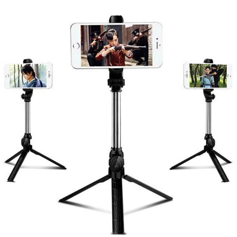Tripod Monopod Bluetooth Selfie Stick with Button Remote Camera Selfie Stick for Iphone 6 8 Plus Huawei Android Stick