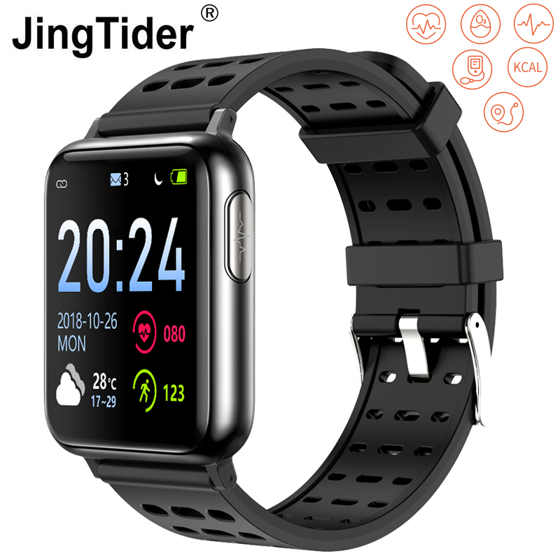 "V5 Bluetooth Smart Watch ECG PPG Heart Rate Blood Pressure Oxygen Monitor Smart Watch Band 1.3"" Fitness Tracker IP67 Waterproof"