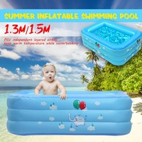 SGODDE Inflatable Children Bathing Swimming Pool Portable Outdoor Children Thicken Basin Bathtub Kids Pool Square Large Size