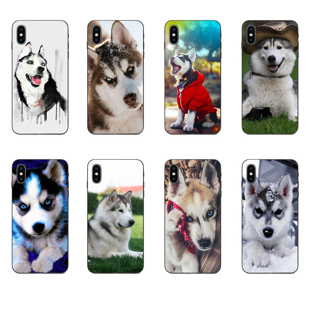 For Xiaomi Redmi Note 3 3S 4 4A 4X 5 5A 6 6A 7 7A K20 Plus Pro S2 Y2 Y3 Special Offer Phone Case <font><b>Siberian</b></font> <font><b>Husky</b></font> Dog Puppies image