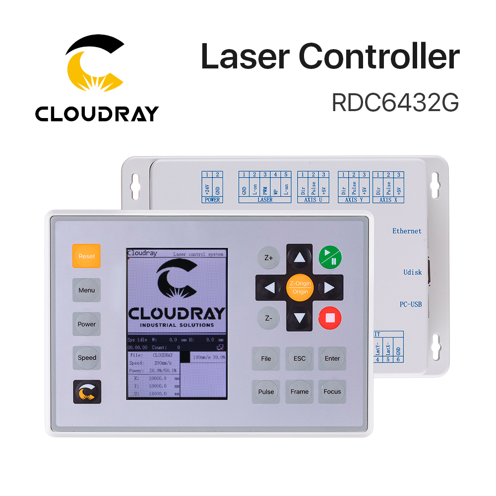 Clouday Ruida RDC6432 CO2 Laser Controller System for Laser Engraving Cutting Machine Replace AWC708S Ruida 6442S Ruida Leetro