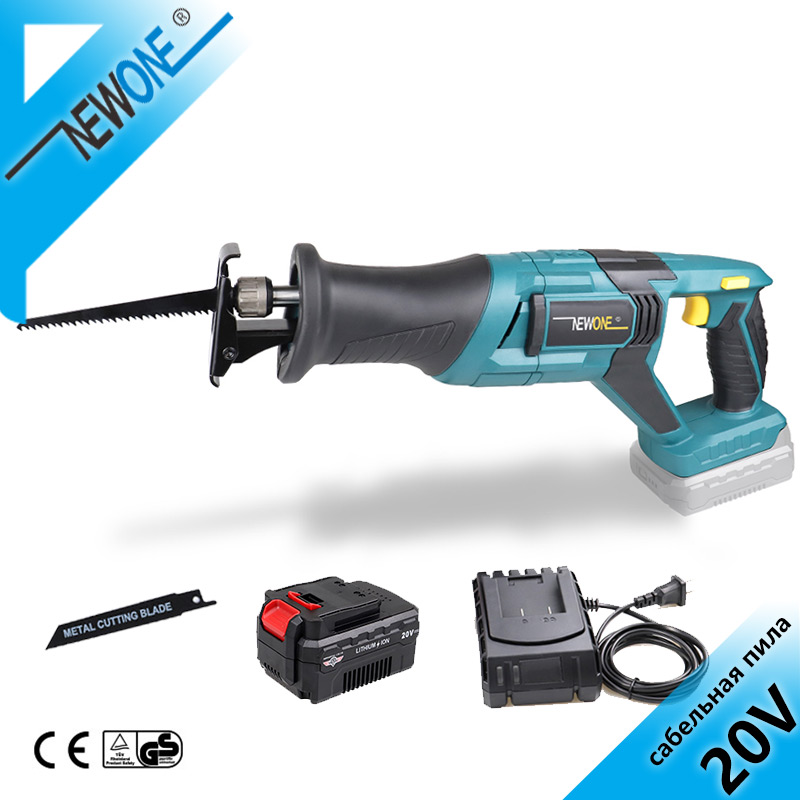 NEWONE 20V Reciprocating Saw Electric Saw Cordless Power Tool Saber Saw for Wood and Metal Multifunction Hand Saw