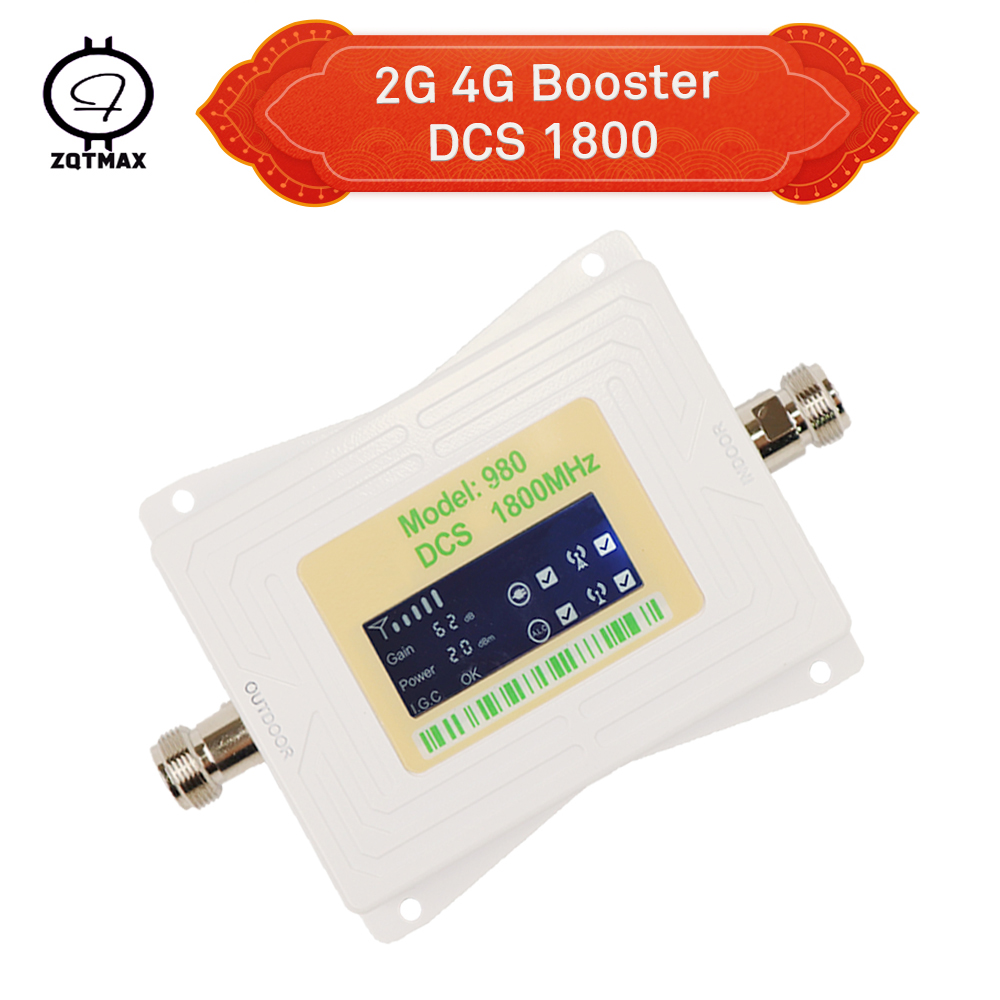 ZQTMAX 62dB 2G 4G Mobile Signal Booster Lte 1800mhz Band3 Cellular Amplifier Dcs Repeater