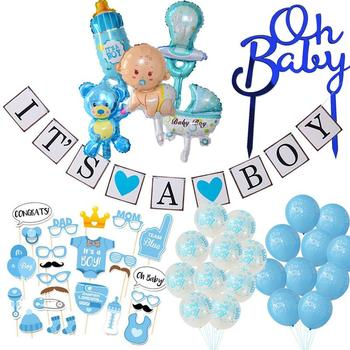 Baby Shower Boy Girl Decorations It's a Boy It's a Girl Balloon Oh Baby Cake Topper Photo Props Gender Reveal Kid Party Supplies oh baby oh girl oh boy banner sign banner banner baby shower decorations girl boy unisex baby shower bunting suplies
