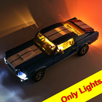 (only light included)LED Light Up Kit Toy For 21047 Ford Mustang Lighting Set Compatile With 10265 11293 image