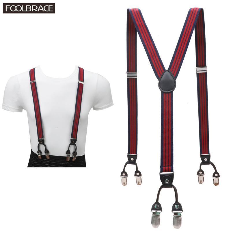 6 Clips Kids Elastic Suspenders Lovely Children Matching Tuxedo Suit Unisex Boys Girls Wedding Costume Adjustable Y-Back Braces