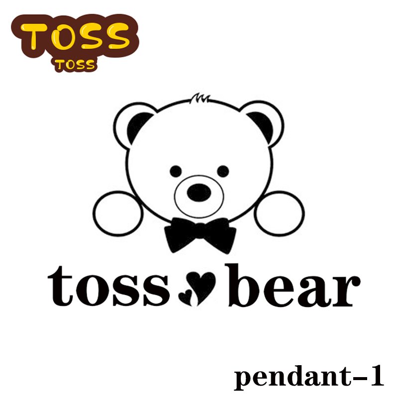 TS-DZ001 Toss Bear High Quality Sterling Silver Jewelry From Spanish Bear Jewelry Women Fashion Pendant Self-design Charms