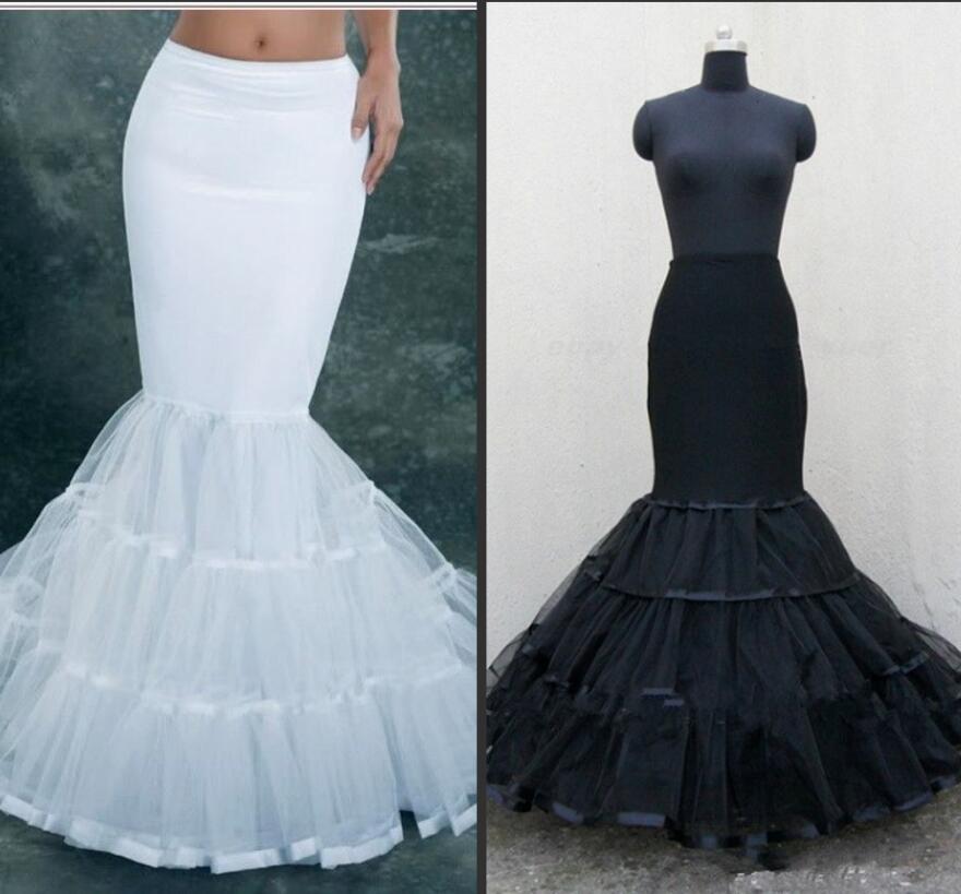 Plus Size Vintage Ball Gown Mermaid Petticoat For Wedding Dress White Hoops Petticoat  Slip Underskirt Girl