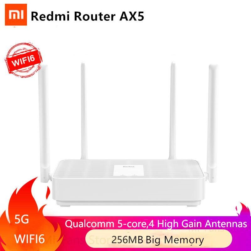 NEW Xiaomi Redmi Router AX5 WiFi 6 1800 5-Core 256M Memory Mesh Home IoT 4 Signal Amplifier 2.4G 5GHz Both 2 Dual-Band OFDMA(China)