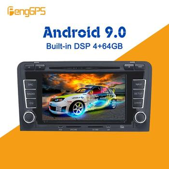 Android 9.0 4+64GB px5 Built-in DSP Car multimedia DVD Player GPS Radio For Audi A3 S3 2003-2013 GPS Navigation stereo Video