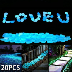 Hot Luminous Glowing Stone Glow in the Dark Garden Pebbles Glow Stones Rock for Walkways Garden Path Patio Lawn Garden
