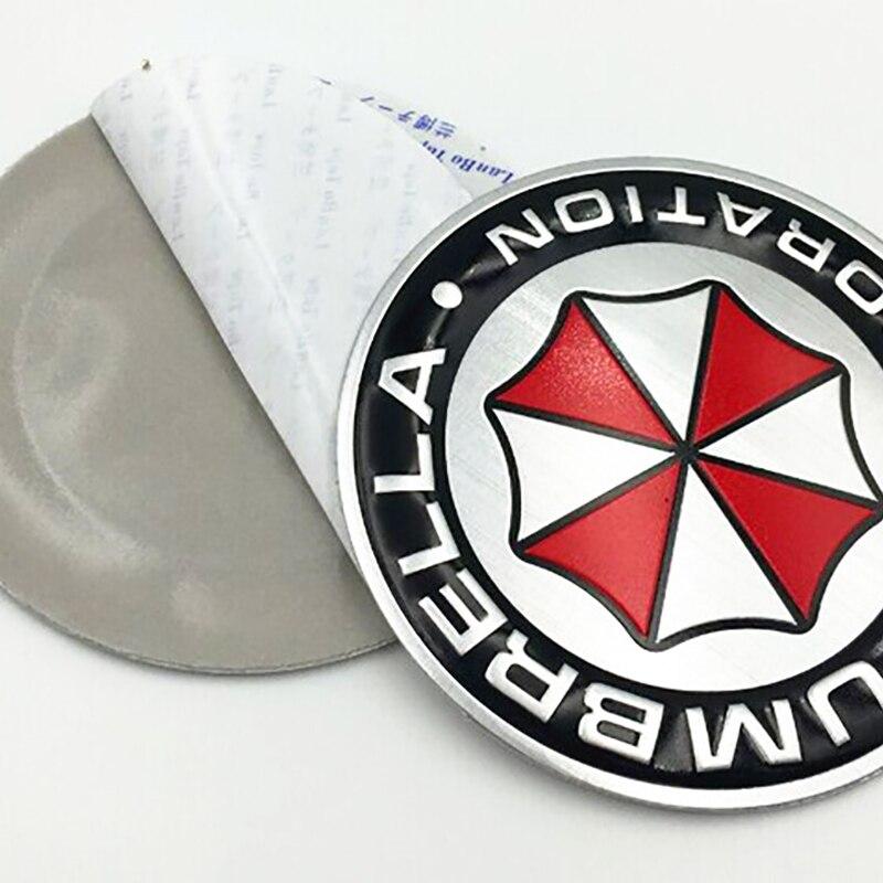 Image 3 - 3D aluminiowe naklejki z motywem umbrella corporation znaczek z symbolem bagażnik samochodowy metalowa naklejka naklejka z samoprzylepnymNaklejki samochodowe   -