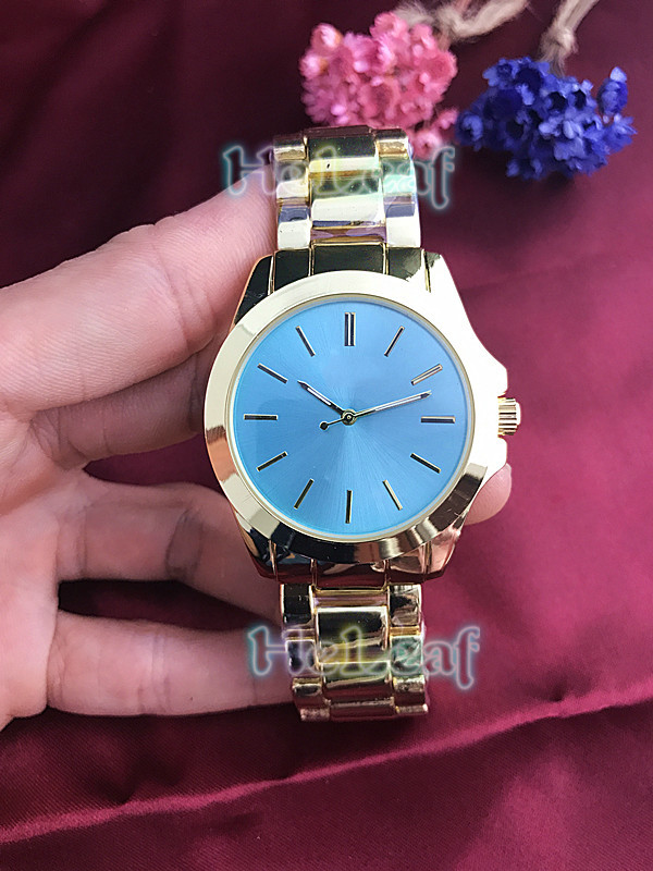 Fashion Silver Gold Stainless M Brand Women Watch Quartz Wrist Watches Ladies Girls Famous Female Color Clock Relogio