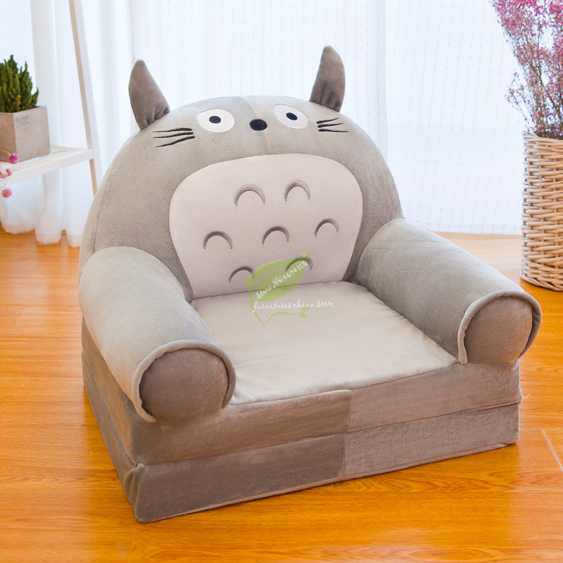Fashion Children Sofa Folding Cartoon Cute Lazy Person Lying Seat Baby Stool Kindergarten Can Be Disassembled Washed