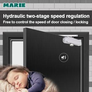 Image 2 - 油圧自動ドアクローザーセキュリティシステム調整可能な閉鎖/ラッチスピードアルミドア用 40 65 キロドアクローザー