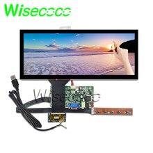Wisecoco 12.3 polegada 1920*720 HSD123KPW1-A30 display lcd com painel de toque 850cd/m2 hdmi vga placa lvds para exibição do carro