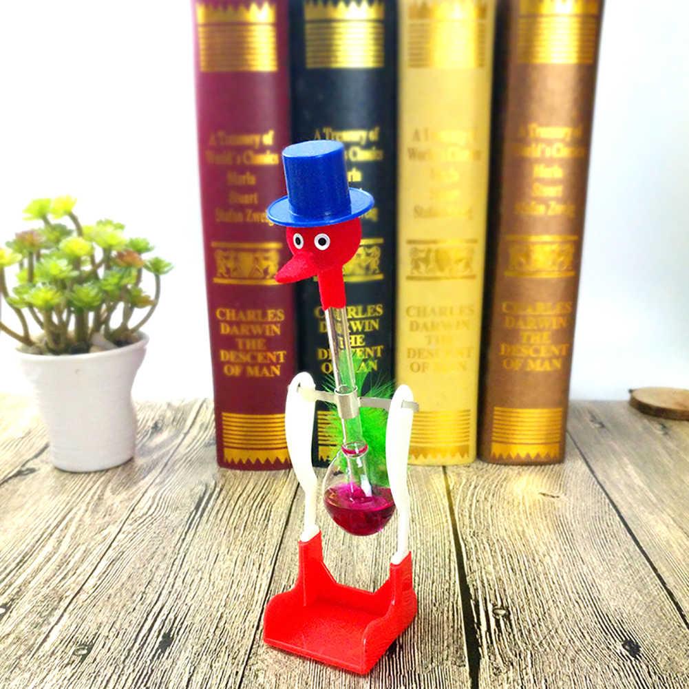 Creative Non-Stop Liquido di Vetro Bere Fortunato Uccello Anatra Bobbing Magia di Burla Del Giocattolo Insegnare Loro Fisica Eco-Friendly E Sicuro