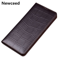 Bussiness genuine leather phone bag cover for for Huawei P Smart Z flip case for Huawei P Smart phone case standing flip cover
