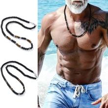 Бисерные, в стиле бохо ожерелья для мужчин этническое ожерелье мала колье ожерелье в этническом стиле SURFER, ювелирное изделие в подарок для м...