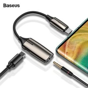 Image 1 - Baseus OTG USB C adaptateur de câble pour Huawei Mate 30 20 P30 20 Pro convertisseur USB Type C mâle à 3.5mm Jack Type C femelle OTG câble