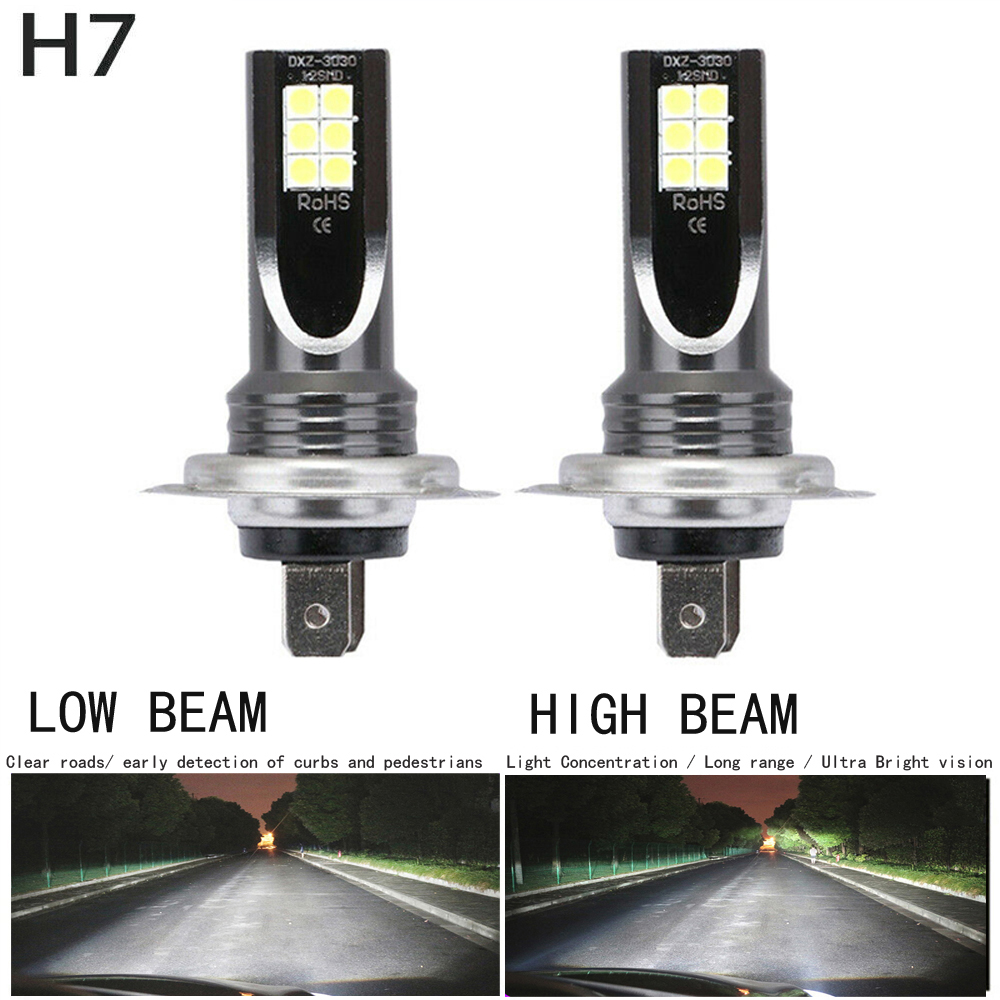 2pcs / Set H7 110W LED Car Headlight Car Front Bulb Super Bright White Beam 6000K 12V Car Modeling Fog Light Kit