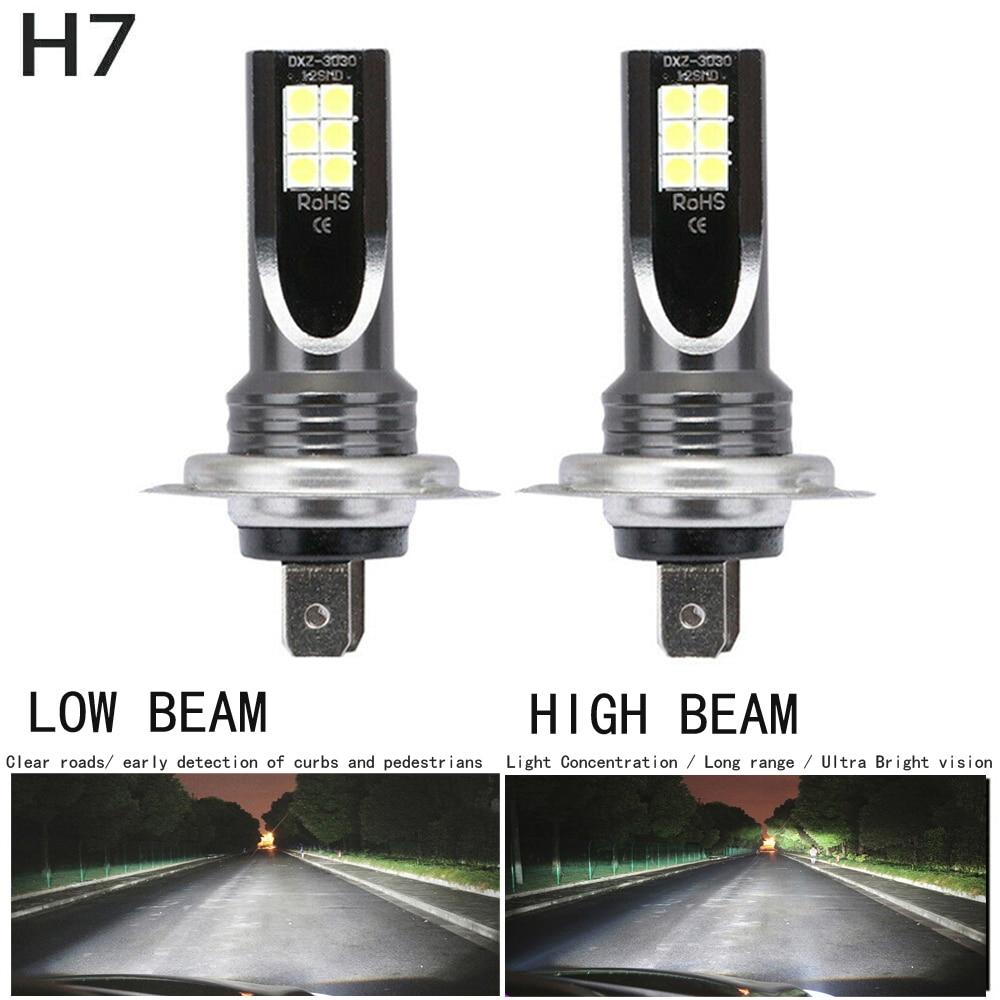 2pcs / Set H7 110W LED Car Headlight Car Front Bulb Super Bright White Beam 6000K 12V Car Modeling Fog Light Kit