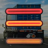 Hot Sale Waterproof 1Pair 100 LED 12V Car Truck Light Bar Brake Trailer Turn Signal Stop Tail Lights Flowing Strip Novelty Light