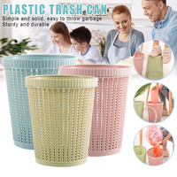 Hollow Garbage Bin Storage Basket with Built in Garbage Bag Box Coverless for Home YU Home|Waste Bins| |  -