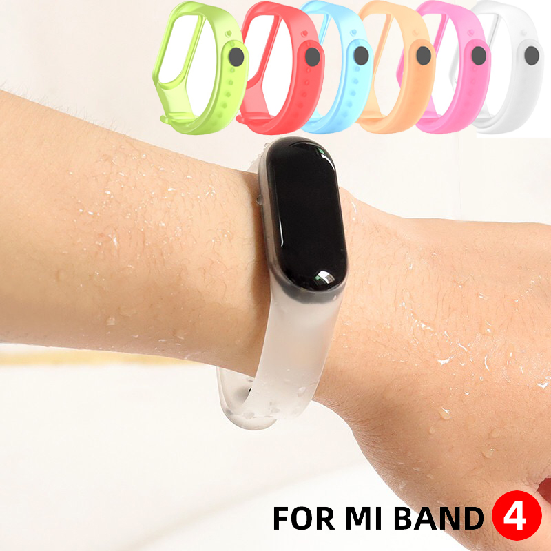 Watch Band For Mi Band 4 3 Sport Strap Watch Sport Soft Silicone Band For Mi 4 3 Watchband Accessories Watchbands