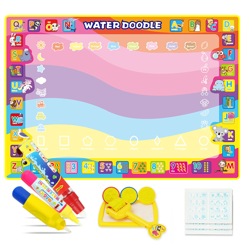 Children Magic Canvas Magic Water Canvas 100*70 Oversized Doing Homework Blanket Baby Educational Toy