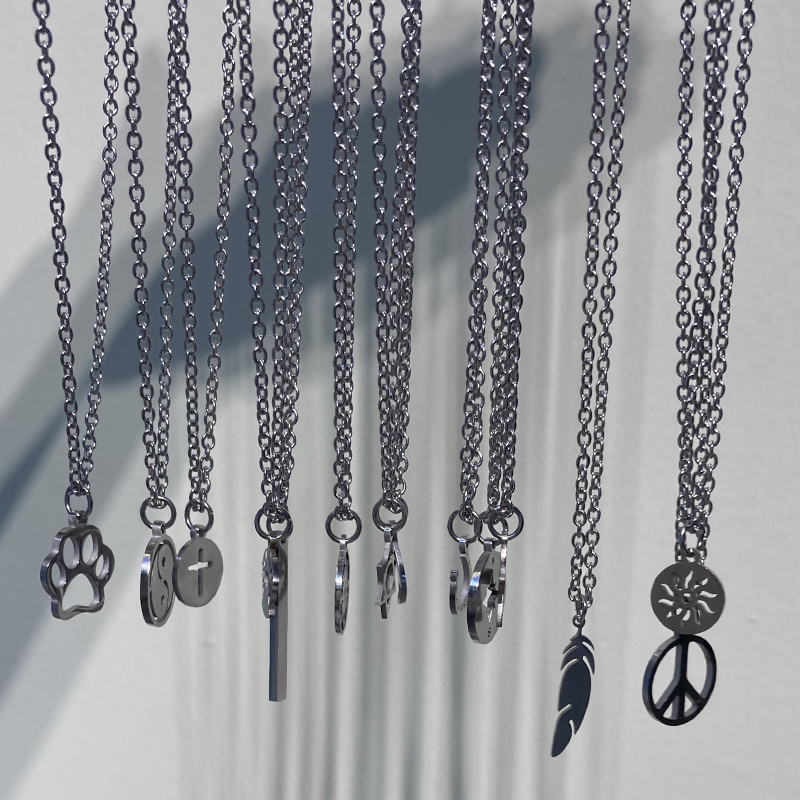men necklace women chain stainless steel Necklace Women Men Simple Long Chain sun pendant Necklace Statement Couples jewelry