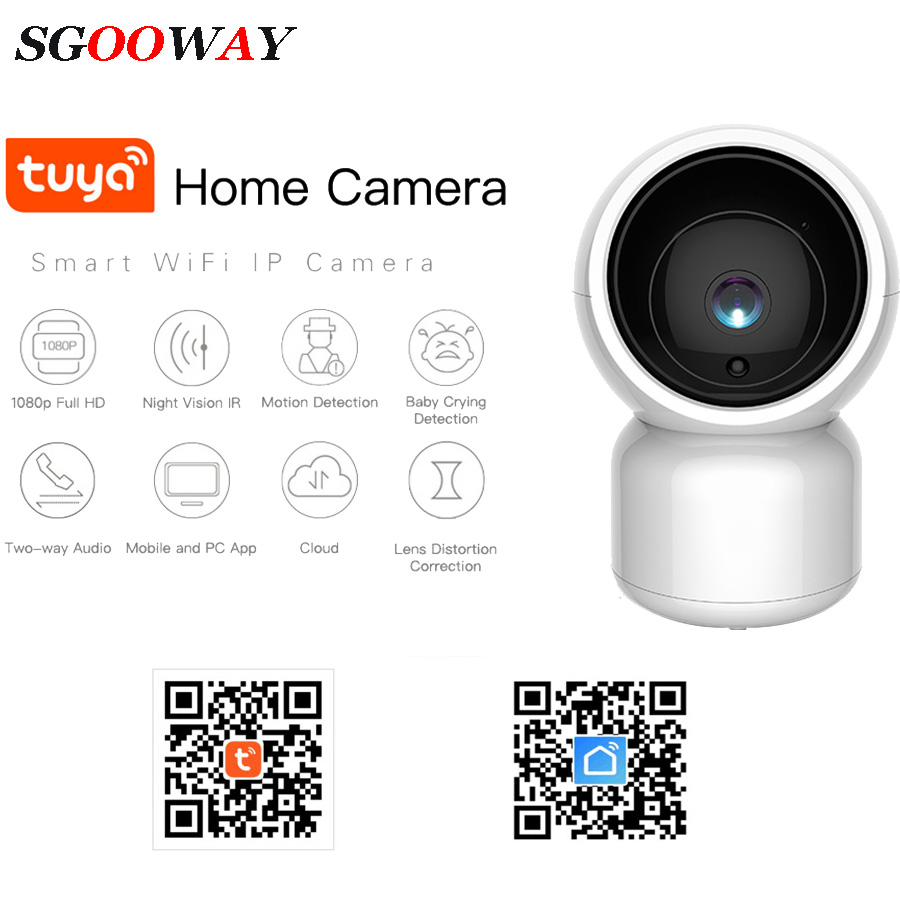 Tuya Smart Life Cloud Wireless Wifi IP Camera 1MP/2MP Intelligent Auto Tracking Of Human 720P/1080P