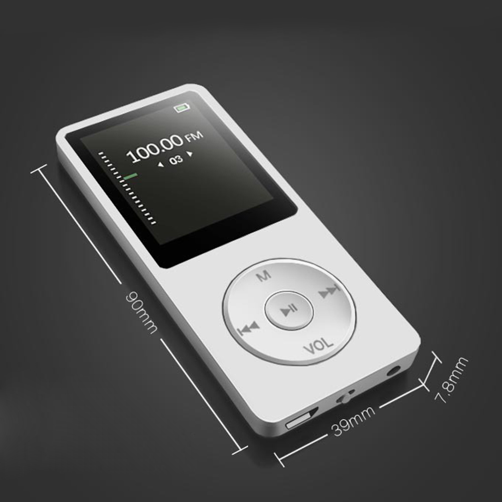 Portable 1.8 Inch Screen MP3 MP4 Music Player With Display 4 GB Rechargeable Support FM Radio E-book Picture Browsing PUO88