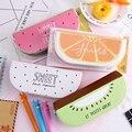 Кавайный чехол для карандаша  фруктовый клей  подарки  искусственная кожа для девочек  школьные карандаши  пенал  сумка-карандаш  школьные п...
