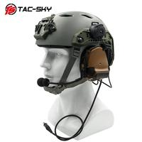 outdoor sports TAC-SKY COMTAC III helmet bracket silicone earmuff version outdoor sports noise reduction pickup military tactical headset CB (5)