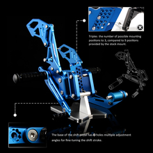 Alloy CNC Motorcycle Rearset Moto Footrest For SUZUKI GSXR 600 750 2006 2007 2008  2009 2010 Adjustable Left&Right