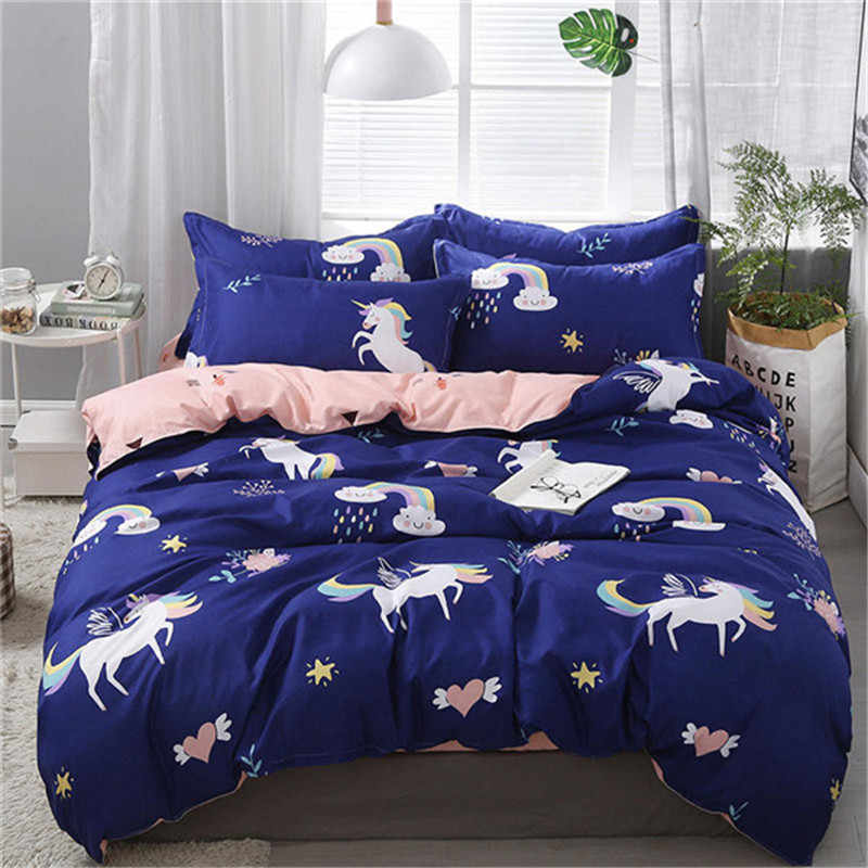 3/4pcs High Quality Cartoon Zebra Printing Textile Bedding Set Include Duvet Cover&Sheets&Pillowcases Comfortable Home Bed Set
