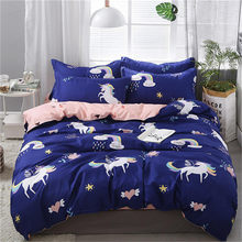 3/4pcs High Quality Cartoon Zebra Printing Textile Bedding Set Include Duvet Cover&Sheets&Pillowcases Comfortable Home Bed Set(China)
