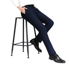 2021 Men's Business Trousers Slim Fit Leisure Suit Long Pants Thin Formal Trousers