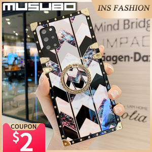 Image 3 - Musubo Luxury Case For Samsung Galaxy S20 Ultra S10 Plus S21 Square Back Cover Note 20 Ultra 10 Plus 9 Fundas Shockproof Coque