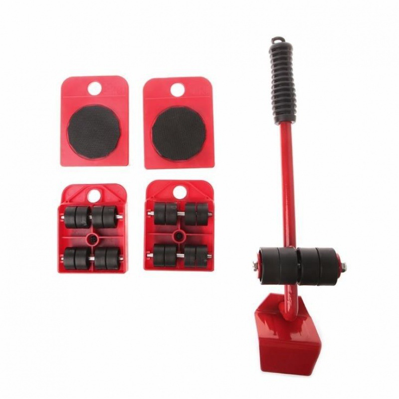 5PCS Heavy Duty Furniture Lifter Carrying Tool Furniture Mover  Moving Rollers  Wheel Bar for Lifting Furniture Moving Helper WJ-1