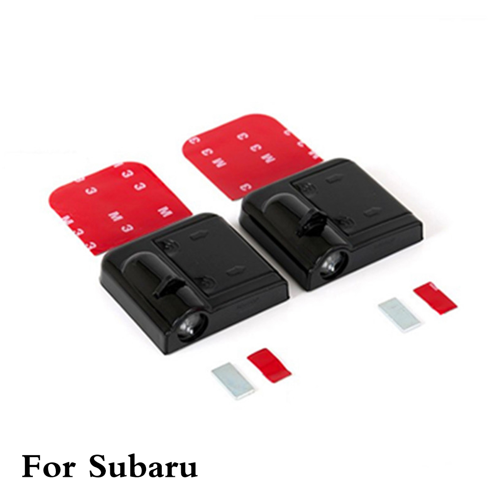 2Pcs Car Logo Door Welcome Light Car LED Projector Laser For SUBARU Forester Outback Legacy Impreza XV