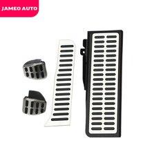 Jameo自動ステンレス鋼ペダルパッドシュコダオクタA5用フォルクスワーゲンvwゴルフ6ジェッタMK5シロッコティグアン部品